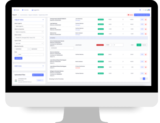 Process commissions and create custom reports with Apizeal Insurance Management System